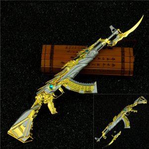 Mô hình Đột kích AK47 Knife Transformer Noble Gold