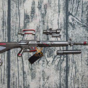 Mô hình PUBG M16A4 skin Shark Bite full option size 27