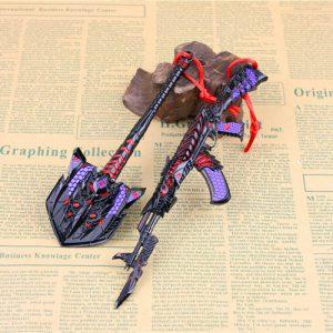Móc khóa mô hình Đột Kích AK47 Knife và Xẻng Born Beast