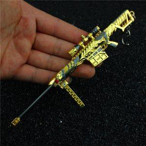 Móc khóa mô hình Đột kích Barrett Born Beast Noble Gold